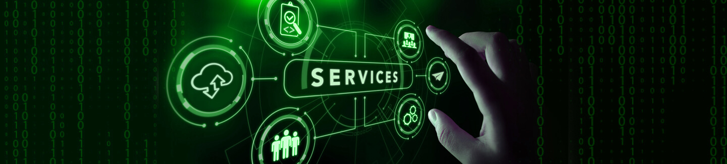 Services web banner green